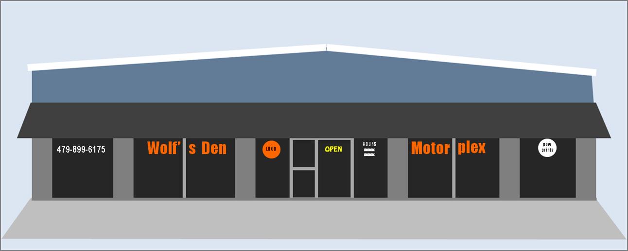 Motorplex signage design