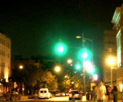 Hazy city scene