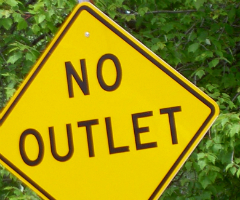 No Outlet sign by jdurham of morguefile