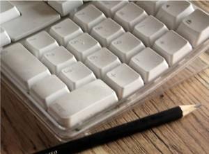 Keyboard and pencil