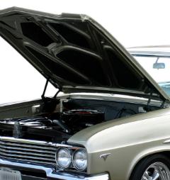 Open hood of car