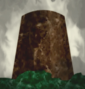 Illustration of tapered monolith