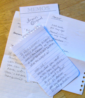 Poems on scrap paper