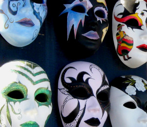 Assorted mardi gras masks