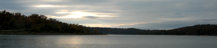 Lake scene at evening