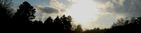 Landscape near sunset