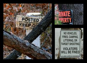 Restrictive signage