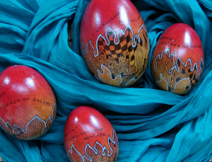 Phoenix eggs, reverse side with affirmations