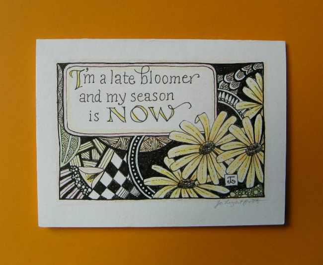 Late Bloomer art design