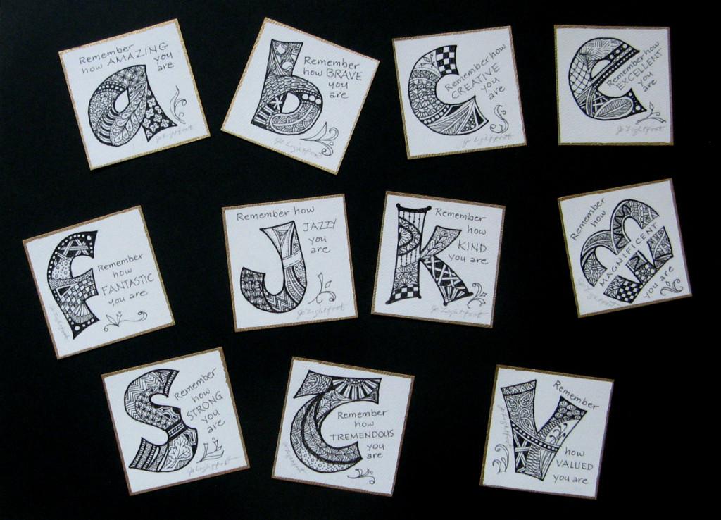 Art doodle word affirmations