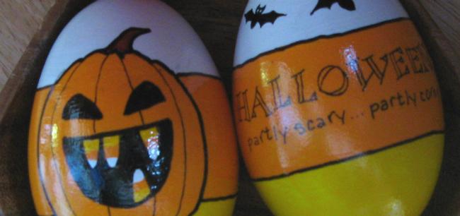 Halloween motif eggs