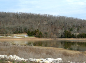 Mid-morning view of Hickory Creek in late winter
