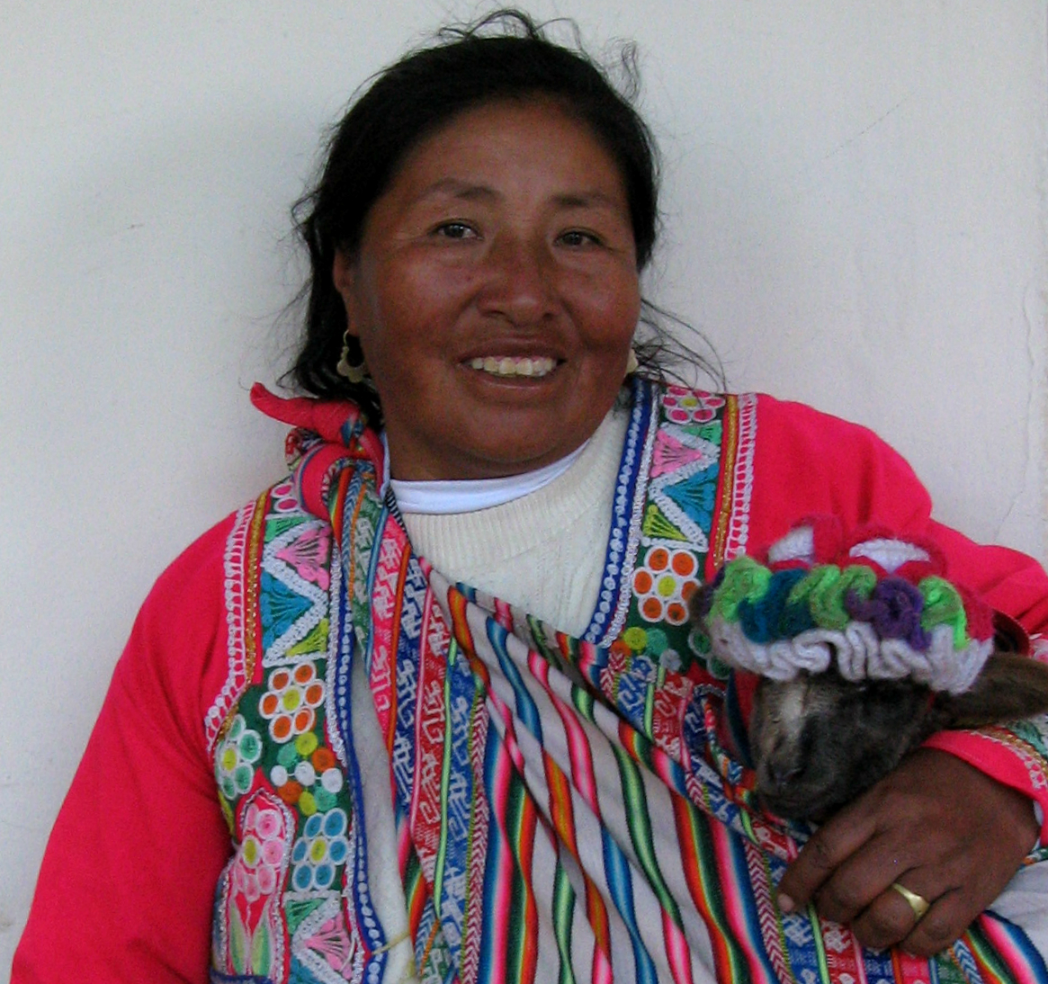 Brightly dressed Cusco woman