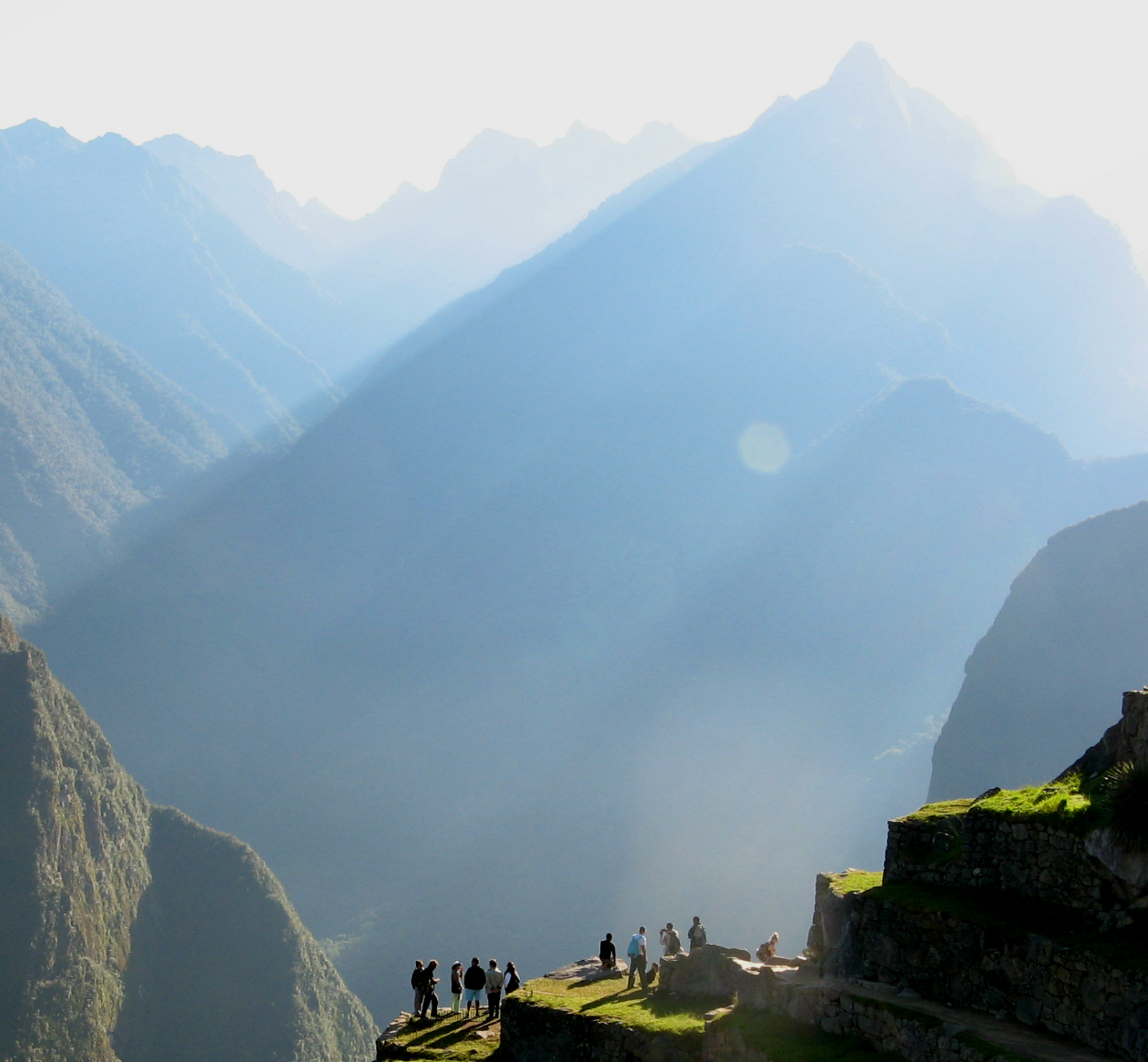 Blue haze atmosphere at Machu Picchu