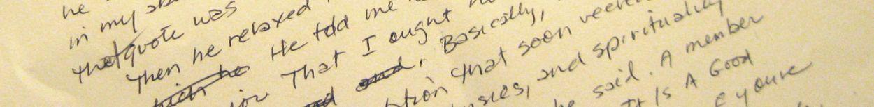 Handwritten writing exercise-document detail