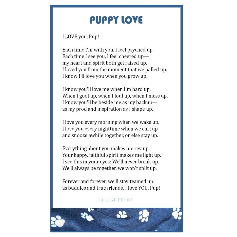 PUPPY LOVE poem-Jo Lightfoot