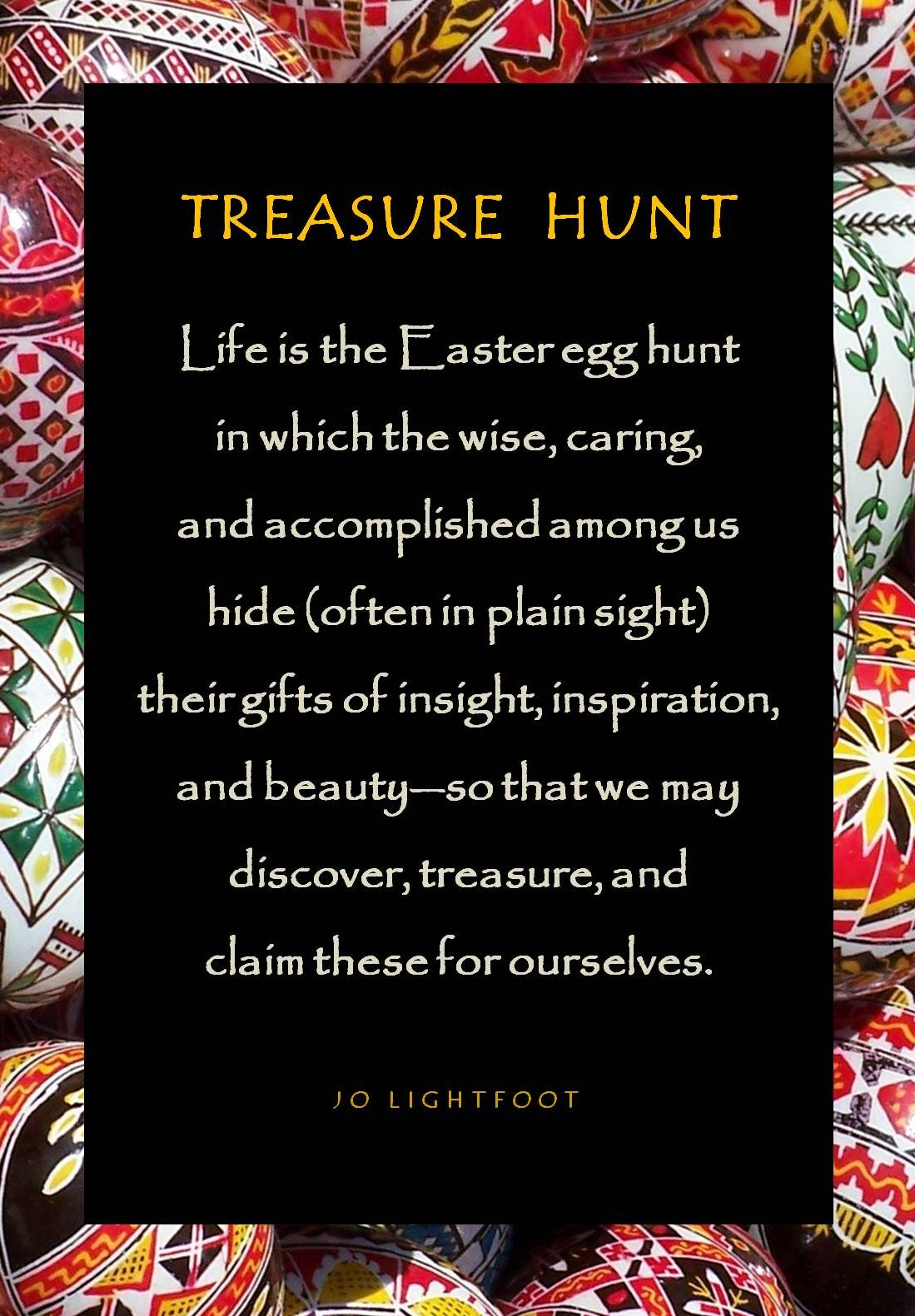 Treasure hunt easter poem jo lightfoot treasure hunt easter poem negle Images